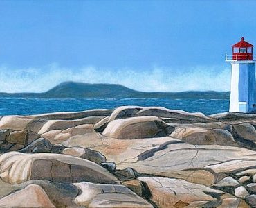 lighthouse on rocks beckoning