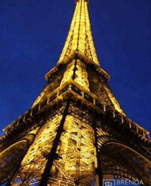 eiffel tower lights night