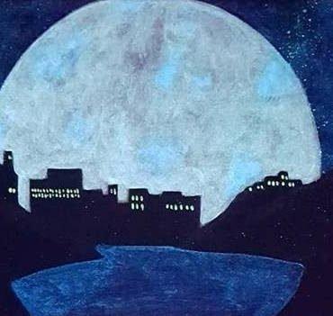 moon over st. john's night