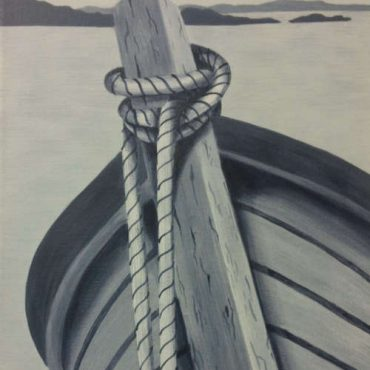 tied off boat