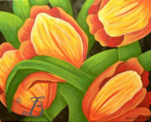 tulips painting class