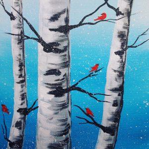 birch and birds