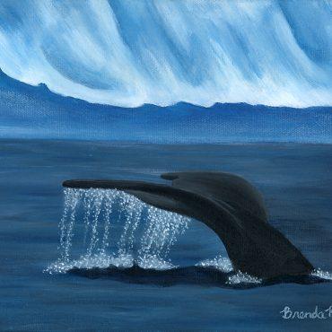 splash whale tail